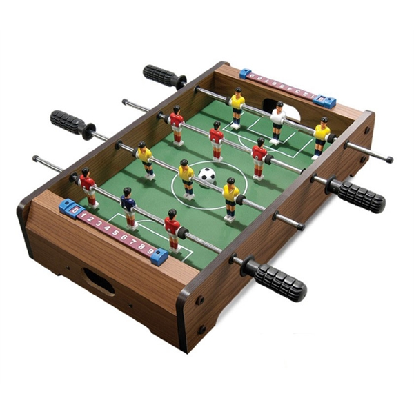 Wooden mini table football for children