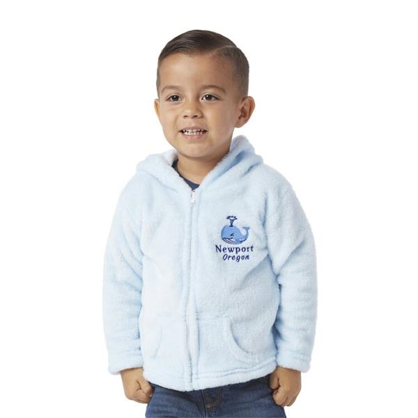 Toddlers Fuzzy Fleece Fullzip Hoodie with Pockets