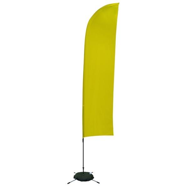13' Solid-Color Blade Sail Sign, 1-Sided, Scissor Base