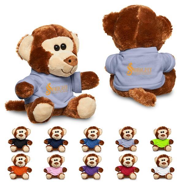 "7"" Plush Monkey with T-Shirt"