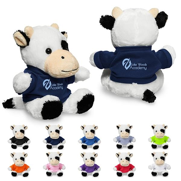 "7"" Plush Cow with T-Shirt"