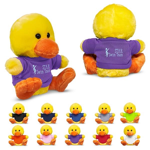"7"" Plush Duck with T-Shirt"