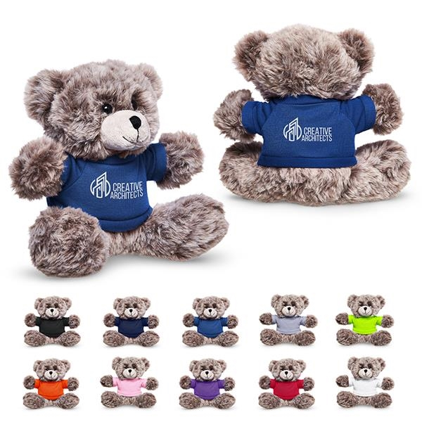 "7"" Soft Plush Bear with T-Shirt"