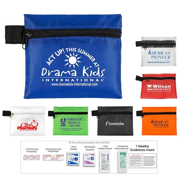 Safety Zip 10 Piece Hand Sanitizer First Aid Kit