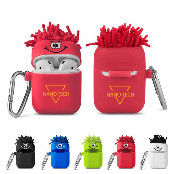 MopToppers® Silicone Earbud Case with Carabiner