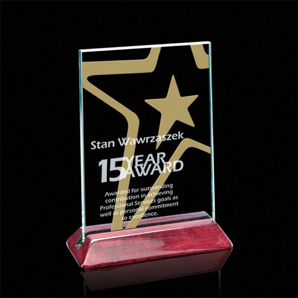 Renfrew Vertical Award - Jade/Rosewood