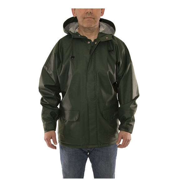 Weather-Tuff ® Heavy Duty Rainwear Jacket w/Attached Hood