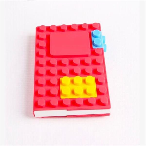 3D building blocks A6 silicone notebook
