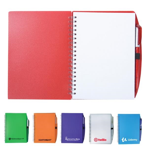 Color-Pro Spiral Unlined Notebook with Pen