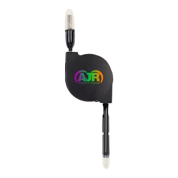 2-In-1 Retractable Charging Cable