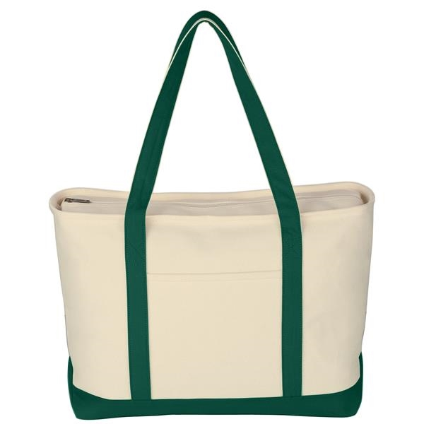 Large Heavy Cotton Canvas Boat Tote
