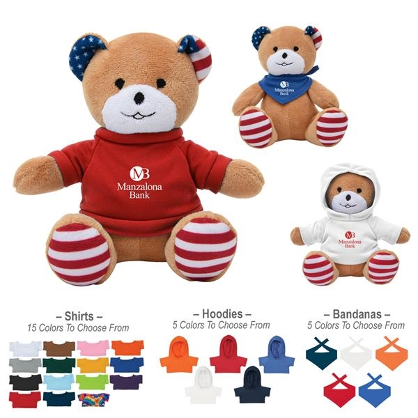 "6"" Patriotic Bear"