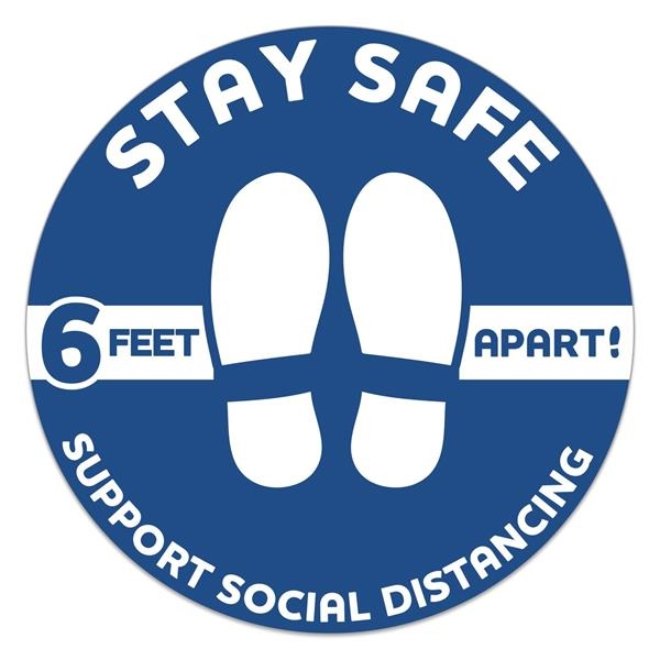 Stay Safe Floor Decals