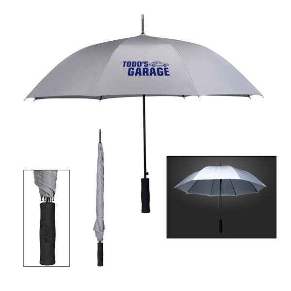 "46"" Arc High Visibility Reflective Umbrella"