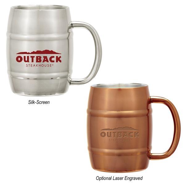 14 Oz. Moscow Mule Barrel Mug