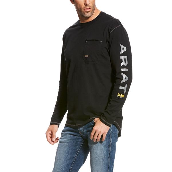 Ariat® Rebar Workman Logo Long Sleeve T-Shirt