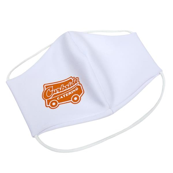 In Stock Woven Face Mask - Face mask with one color screen print available.