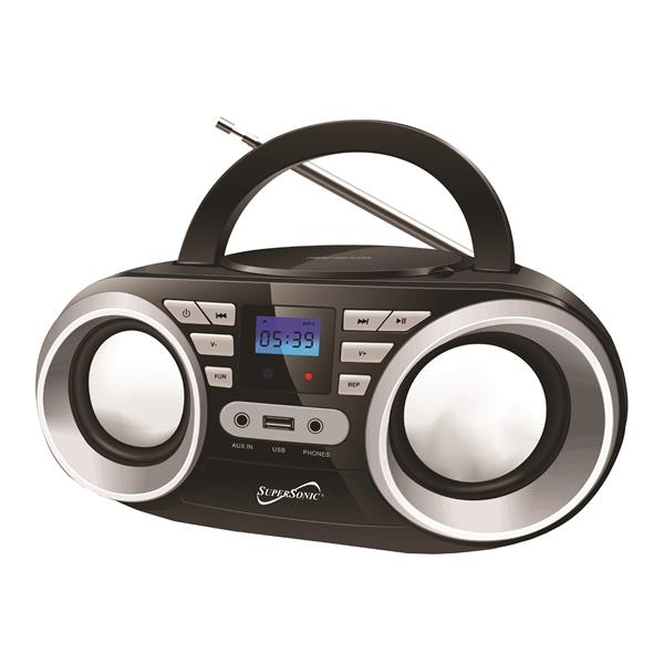 Supersonic Portable Audio System Black