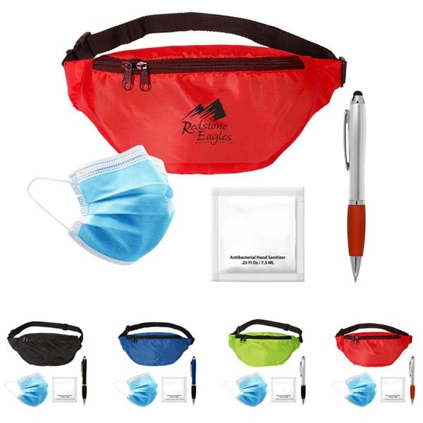 Super Shopper Kit - Super Shopper Kit  includes waist pack, gel sanitizer, stylus pen, 1 pair of Nitrile gloves and one non-woven face mask.