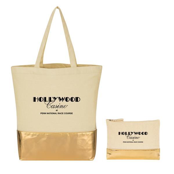 Metallic Travel Bag Kit