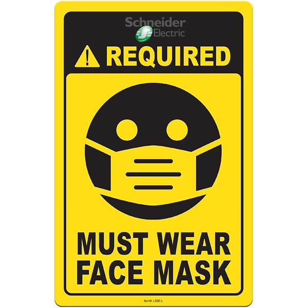 "Face Mask Required COVID-19 Coronavirus Prevention Custom Ut - Face Mask Required COVID-19 Coronavirus Prevention Custom Utility Sign 5.5""x8.5"" Hard 60 Mil Styrene Card"