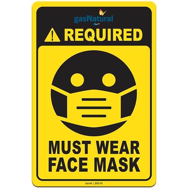 "Face Mask Required COVID-19 Coronavirus Prevention Custom Ut - Face Mask Required COVID-19 Coronavirus Prevention Custom Utility Sign 4""x6"" Hard 60 Mil Styrene Card"