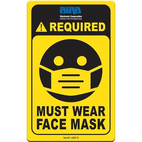 "Face Mask Required COVID-19 Coronavirus Prevention Custom Ut - Face Mask Required COVID-19 Coronavirus Prevention Custom Utility Sign 2.5""x4"" Hard 60 Mil Styrene Card"
