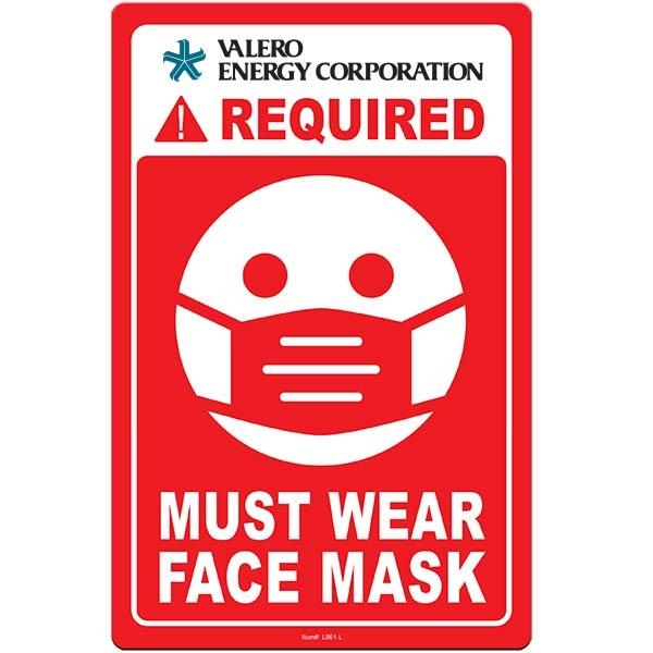 "Face Mask Required COVID-19 Coronavirus Prevention Custom Wa - Face Mask Required COVID-19 Coronavirus Prevention Custom Warning Sign 5.5""x8.5"" Hard 60 Mil Styrene Card"