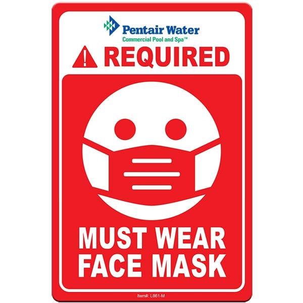 "Face Mask Required COVID-19 Coronavirus Prevention Custom Wa - Face Mask Required COVID-19 Coronavirus Prevention Custom Warning Sign 4""x6"" Hard 60 Mil Styrene Card"