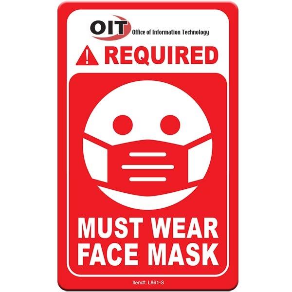 "Face Mask Required COVID-19 Coronavirus Prevention Custom Wa - Face Mask Required COVID-19 Coronavirus Prevention Custom Warning Sign 2.5""x4"" Hard 60 Mil Styrene Card"
