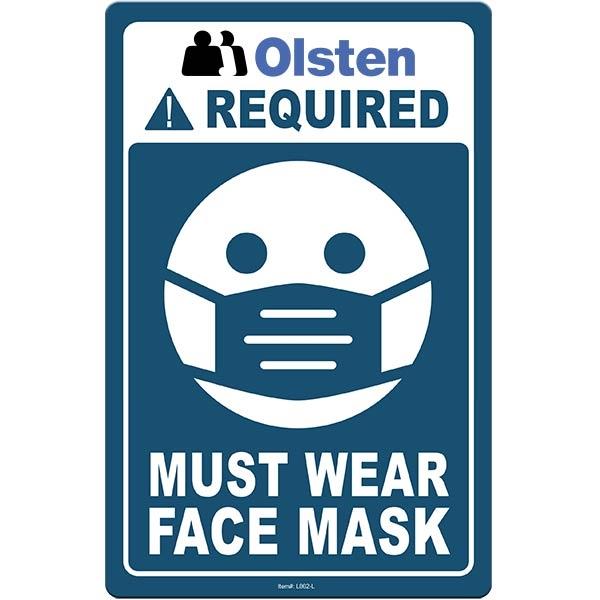 """Face Mask Sign Large 5.5""""x 8.5"""" Styrene Card - Face Mask Sign Large 5.5""""x 8.5"""" Styrene Card"""
