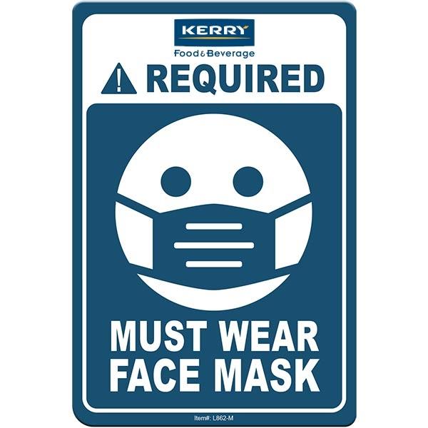 "Face Mask Required COVID-19 Coronavirus Prevention Custom Of - Face Mask Required COVID-19 Coronavirus Prevention Custom Office Sign 4""x6"" Hard 60 Mil Styrene Card"
