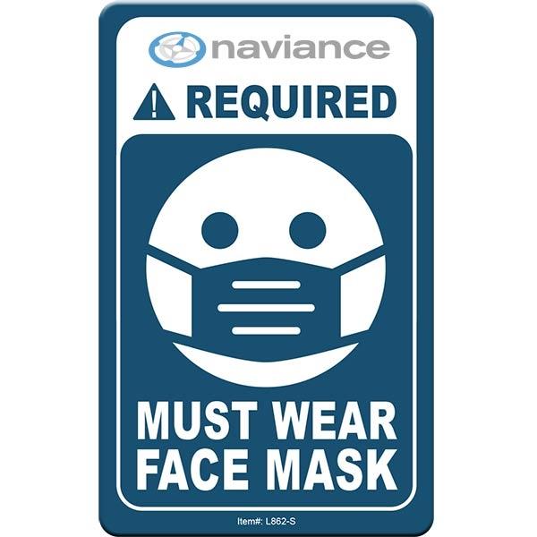 "Face Mask Required COVID-19 Coronavirus Prevention Custom Of - Face Mask Required COVID-19 Coronavirus Prevention Custom Office Sign 2.5""x4"" Hard 60 Mil Styrene Card"