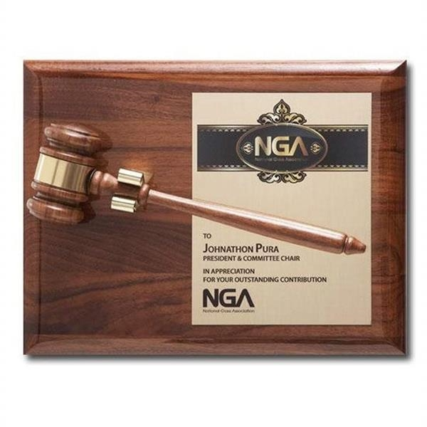 Removable Gavel Plaque - Piano Finish