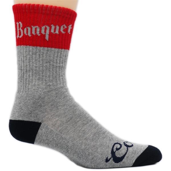 Custom Woven Merino Wool Crew Socks