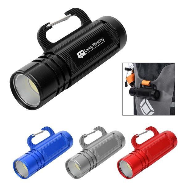 COB Flashlight With Carabiner