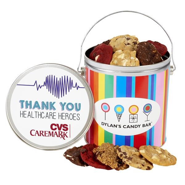One Gallon Gourmet Cookie Tin - Healthcare Heroes