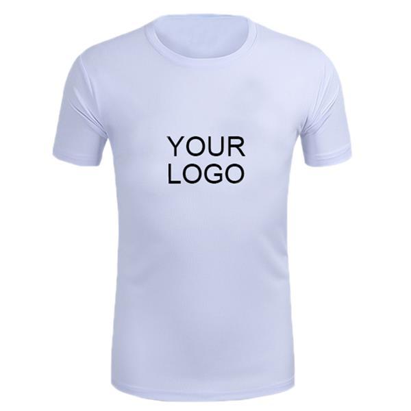 Mesh ventilation sports round neck T-shirt