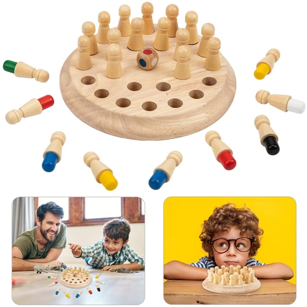 Kids Wooden Memory Match Stick Chess Game Toys