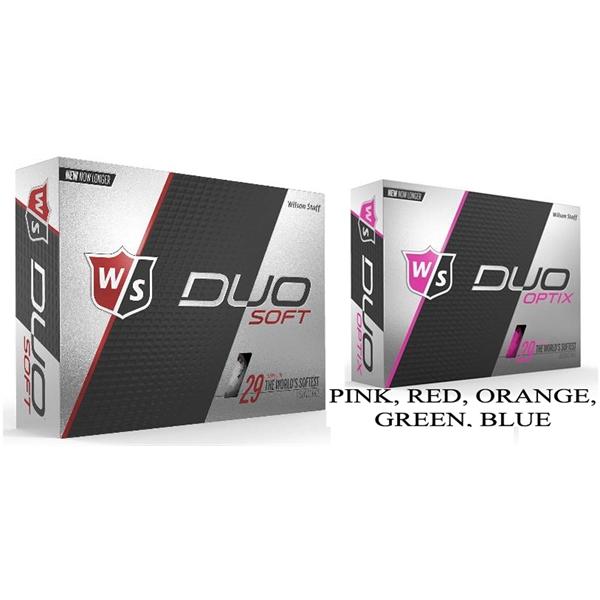 Wilson Duo Soft or Optix Golf Balls