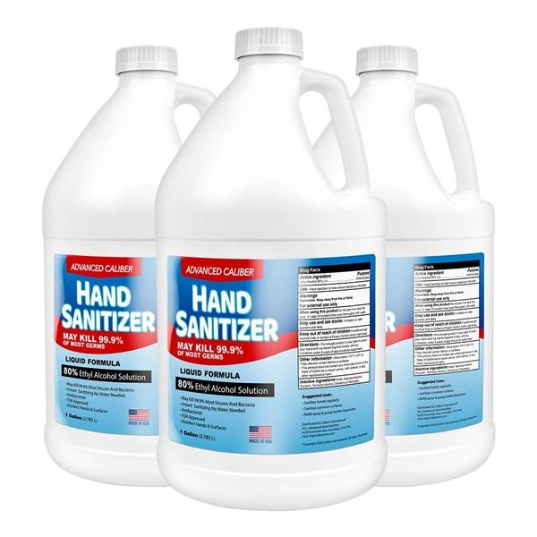 Advanced Caliber Premium Liquid Hand Sanitizer 1 Gallon Ref - Advanced Caliber Premium Liquid Hand Sanitizer 1 Gallon Refill ( 80% Alcohol )