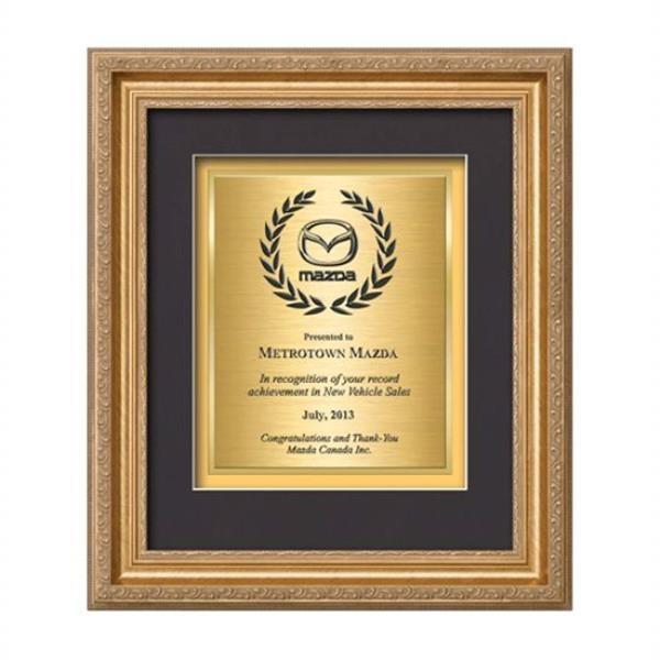 Regal Certificate TexEtch Vert - Gold