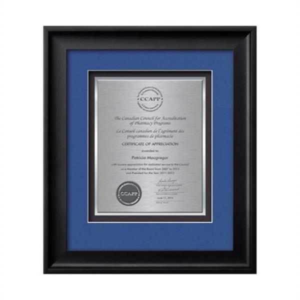 Yorktech Certificate TexEtch Vert - Blac