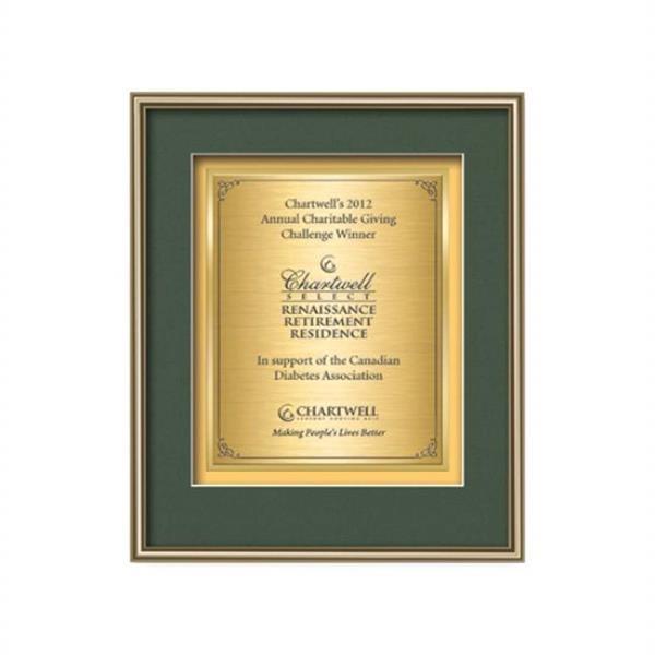 Fenestra Certificate TexEtch Vert - Gold