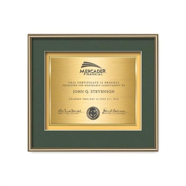 Fenestra Certificate TexEtch Horiz - Gol