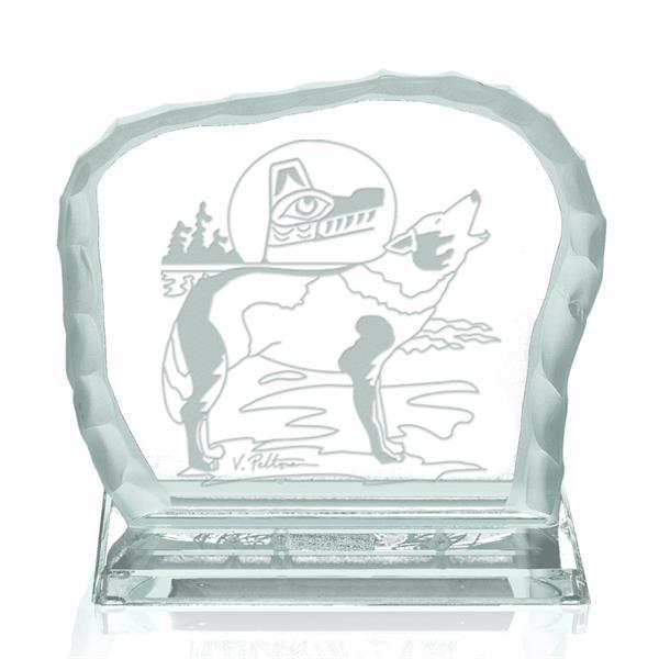 Howling Wolf Award on Base - Jade