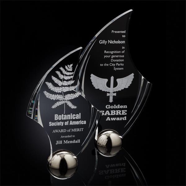 Flourish Hemisphere Award - Acrylic/Silv