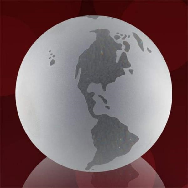 Clear Globe with Frosted Ocean