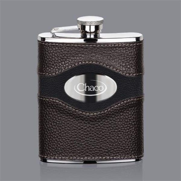 Colchester Hip Flask -  Stainless Plate