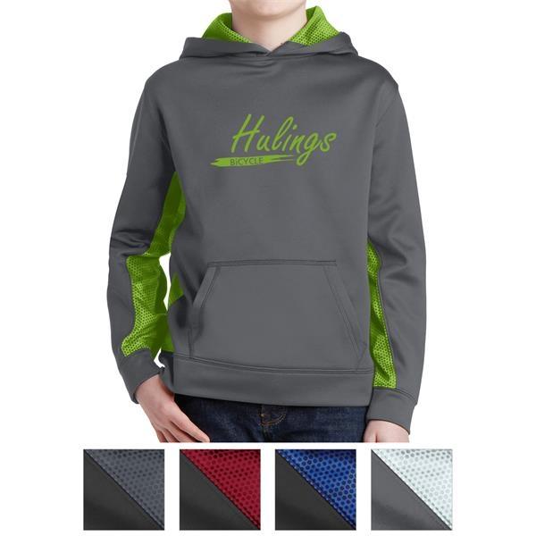 Sport-Tek Youth Sport-Wick CamoHex Fleece Colorblock Hood...